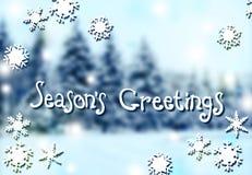 Noël/nouvelle année/fond brouillé Saison des salutations Photo stock