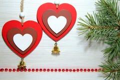 Noël, nouvelle année, jour du ` s de St Valentine, amour Deux multi-colore Images libres de droits