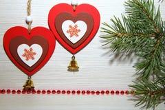 Noël, nouvelle année, jour du ` s de St Valentine, amour Deux multicolores Images stock