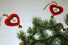 Noël, nouvelle année, jour du ` s de St Valentine, amour Deux multicolores Photos libres de droits