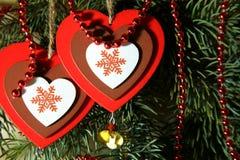 Noël, nouvelle année, jour du ` s de St Valentine, amour Deux multicolores Photographie stock libre de droits