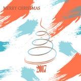 Noël-orange-arbre-Un Photographie stock libre de droits