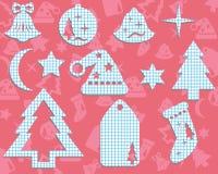 Noël ornemente fabriqué à la main. illustration stock