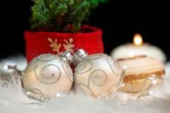 Noël ornemente l'humeur de fête de symbole abstrait Images libres de droits