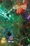 Noël ornemente la carte de voeux Photo stock