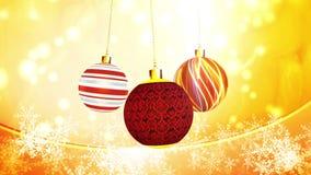 Noël ornemente le mouvement subtil illustration stock