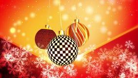 Noël ornemente le mouvement subtil illustration libre de droits
