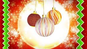 Noël ornemente le mouvement subtil illustration de vecteur