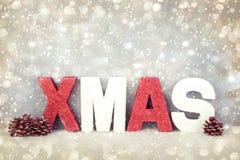 Noël, ornements de Noël de fond Image stock