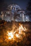 Noël orthodoxe de la Serbie Images libres de droits