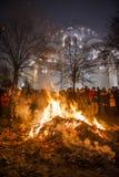 Noël orthodoxe de la Serbie Photographie stock