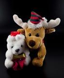 Noël peu ours et renne Image libre de droits