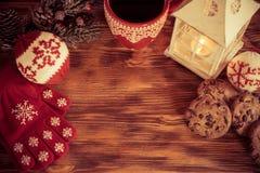 Noël près de cheminée Photo libre de droits
