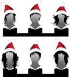 Noël réglé de vecteur de type de cheveu Photos stock