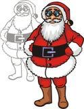 Noël réglé - illustration vinyle-prête de vecteur Image libre de droits