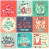 Noël réglé - labels Images libres de droits