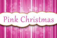 Noël rose illustration stock