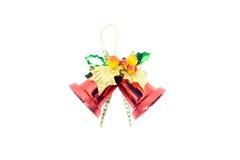 Noël rouge de cloche sur le backgound blanc Photo stock