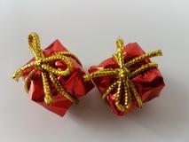 Noël rouge de décoration de Noël d'anniversaire de boîte de GIF Photo libre de droits