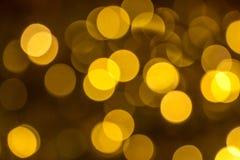 Noël rougeoyant d'or Images libres de droits