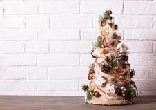 Noël rustique topiaire images stock