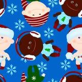 Noël sans couture d'enfant de bébé de fond Photos libres de droits