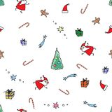 Noël sans couture de modèle de vecteur Photo stock