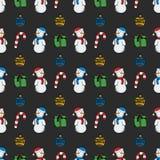 Noël sans couture de modèle de vecteur illustration libre de droits