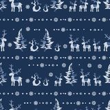 Noël sans couture 2 de vecteur Photographie stock libre de droits