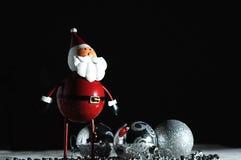 Noël Santa avec le fond noir Image stock