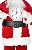 Noël Santa avec une horloge Photos libres de droits