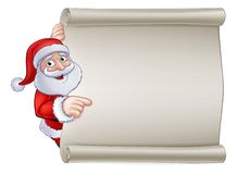 Noël Santa Claus Cartoon Sign Illustration Stock