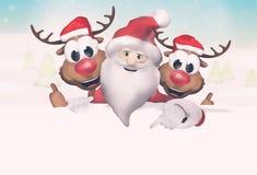 Noël Santa Claus Reindeer Photographie stock libre de droits
