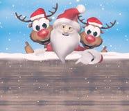 Noël Santa Claus Reindeer Photo libre de droits