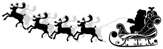 Noël Santa et deers, vecteur Illustration Libre de Droits