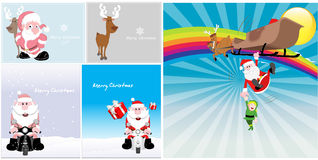 Noël Santa Vector Backgrounds Photos libres de droits