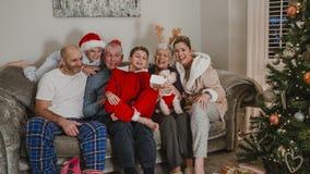 Noël Selfie de trois générations Photo libre de droits