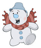 Noël Snowball cartoon Image stock