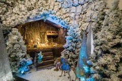 Noël stable et lui Jésus Photos stock