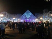 Noël sur la ville du ³ n de Torrejà images stock