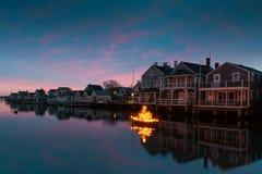 Noël sur Nantucket Photographie stock libre de droits