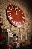 Noël synchronise montrer peu de minutes laissées à la nouvelle année Image stock