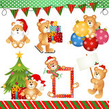 Noël Teddy Bear Clipart Digital illustration libre de droits