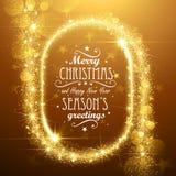 Noël tient le premier rôle le cadre Photographie stock libre de droits
