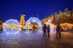 Noël traditionnel juste dans la vieille ville de Danzig Photographie stock