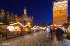 Noël traditionnel juste dans la vieille ville de Danzig Photographie stock libre de droits