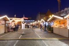 Noël traditionnel juste dans la vieille ville de Danzig Images libres de droits