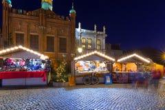 Noël traditionnel juste dans la vieille ville de Danzig Photos libres de droits