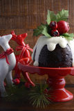 Noël traditionnel Plum Pudding Photo stock
