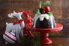 Noël traditionnel Plum Pudding Image stock